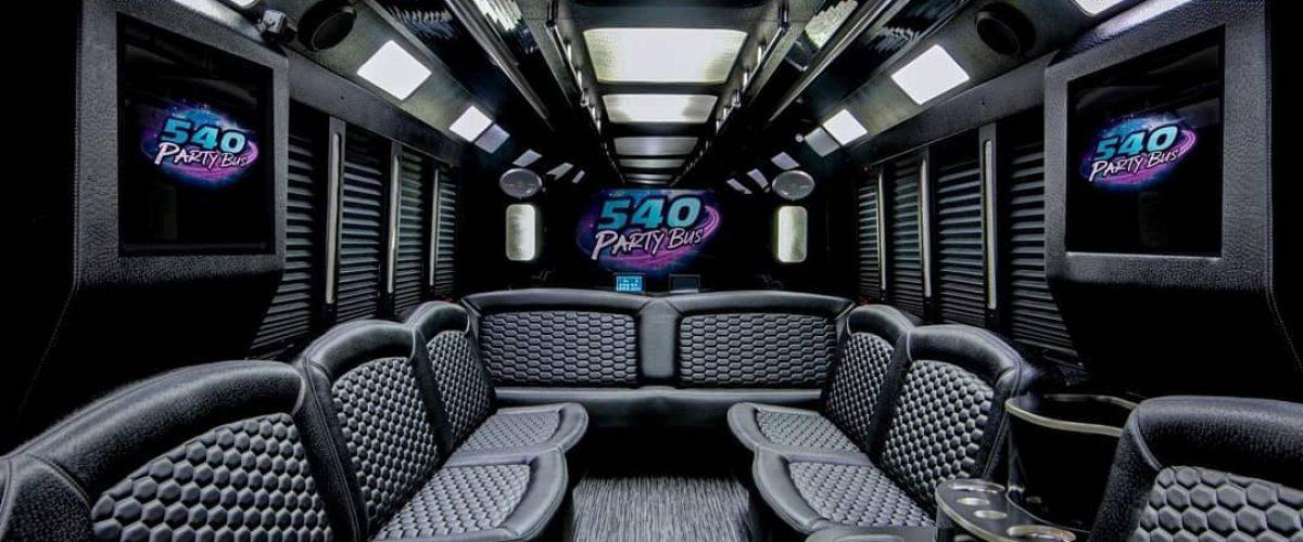 540 party bus interior of fleet